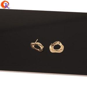 Image 4 - Cordial Design 50Pcs 14*18MM Jóias Acessórios/Feitos À Mão/Chapeamento de Ouro Genuíno/DIY/ forma Irregular/Pin De Prata/Brincos Do Parafuso Prisioneiro