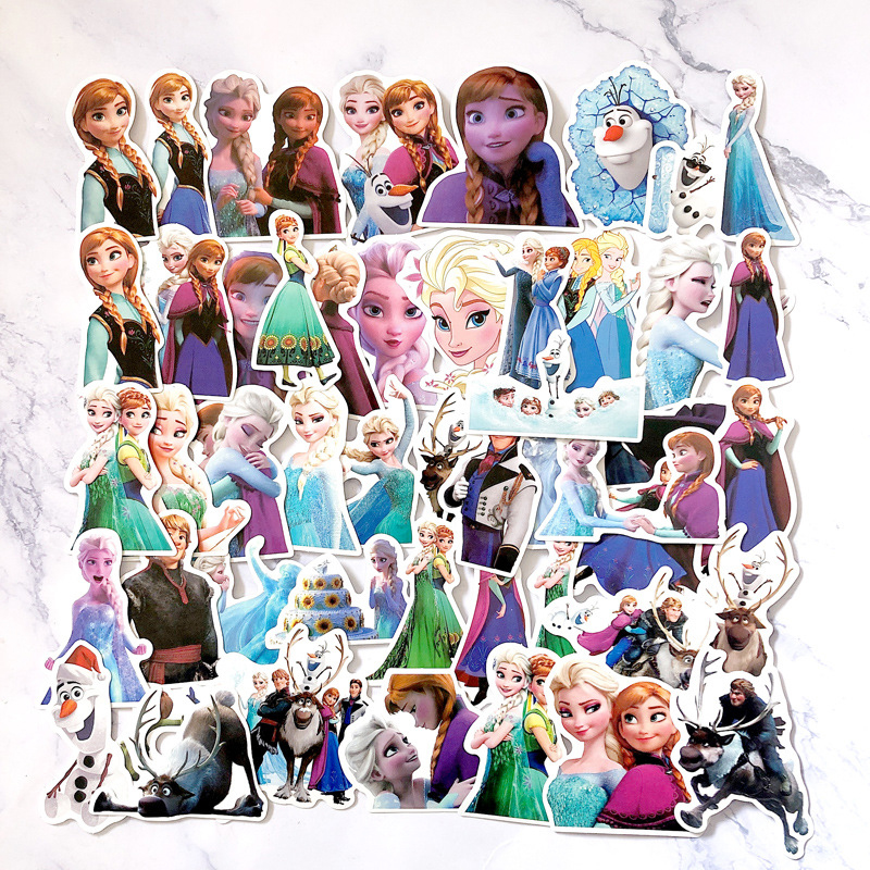 2019 Hot Disney Frozen Princess 50 Pcs Sophia Graffiti Stickers On Scooters, Scooters, Suitcases, Stickers, Cartoon Stickers