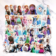2019 Hot Disney frozen prinses 50 pcs Sophia graffiti stickers op scooters, scooters, koffers, stickers, cartoon stickers(China)