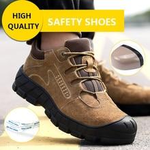 Giày Với Thép Không Gỉ Mũi Nón Đi Bộ Đường Dài Giày Đi Bộ Giày Giày Công Sở Nam Nhẹ Làm Việc Ủng Không Thể Phá Hủy Giày