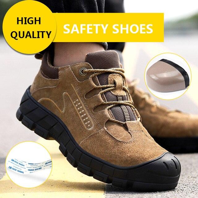 ความปลอดภัยรองเท้า STEEL TOE CAP รองเท้า Trekking รองเท้าผ้าใบรองเท้าผู้ชายน้ำหนักเบาทำงานรองเท้าทำลายรองเท้า