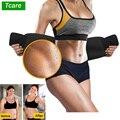 Tcare Neoprene Slimming Lumbar Waist Trimmer Belt Weight Loss Sweat Band Wrap Fat Tummy Stomach Sauna Sweat Belt For Gym Fitness