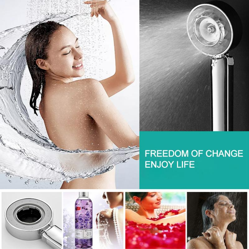 Negative Ion SPA Filtered Hand Shower Double-Sided Shower Head Can Be Equipped With Shower Gel Bathroom 3 Functions Shower Head