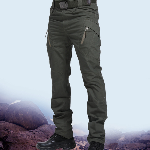 City Military Tactical Pants Men SWAT Combat Army Trousers Many Pockets Waterproof  Wear Resistant Casual Cargo Pants Men 2021 2
