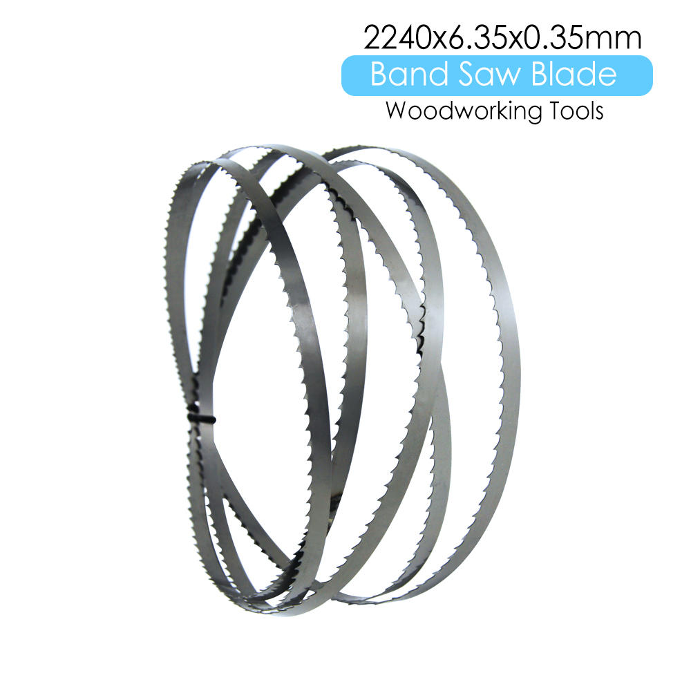"""1×88-1/4 """" Wood Bandsaw Blade 2240 X 6.35 X 0.35mm Band Saw Woodworking Tools Accessories For METABO BAS317 BAS 317 TPI 6"""