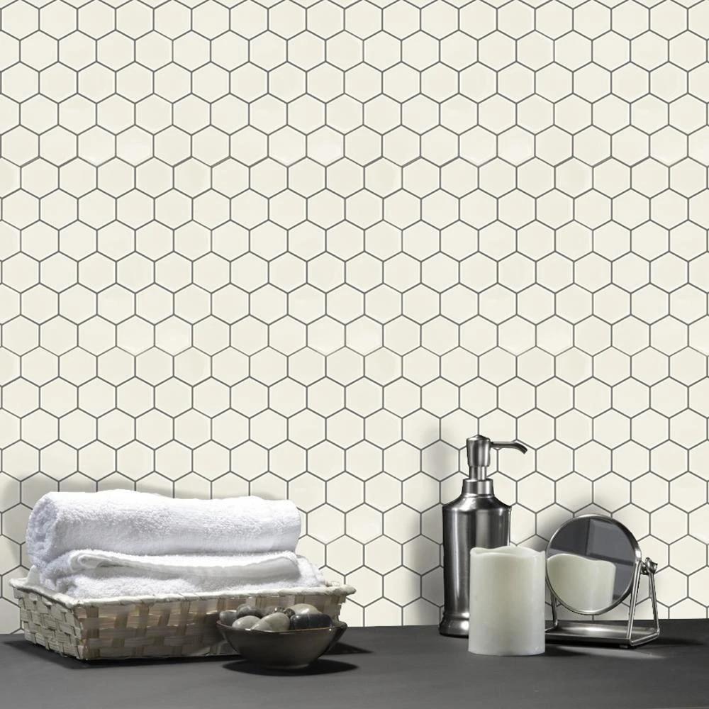 hexagon bee honeycomb shape backsplash peel and stick wall tile for kitchen backsplash wall coverings and countertops