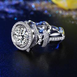 Супер большой GIA алмаз 3ct кольцо для мужчин Ручной работы 18K Белое Золото роскошное свадебное Помолвочное GIA ювелирные кольца с бриллиантом