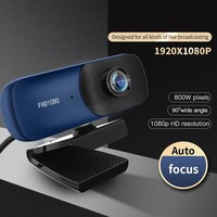 TISHRIC C80 Autofokus HD Webcam 1080 Web Kamera Mit Gebaut-in Mikrofon USB Web Kamera Für PC Video Aufruf live-übertragung