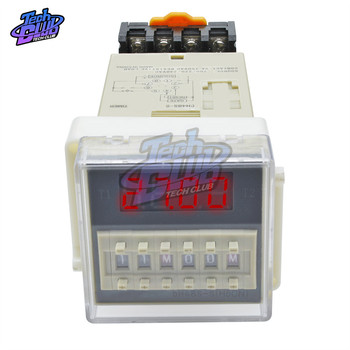 цена на AC 220V DH48S-S Digital Time Delay Relay Timer Programmable Double Relay Switch Socket Base 0.1s-990h Repeat cycle timing relay