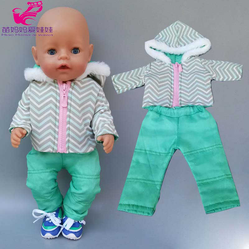 18 Inch Girl Doll Clothes Ski Suit Fit for 43cm New Born Baby Dolls Clothes 17 Inch Doll Winter Jacket
