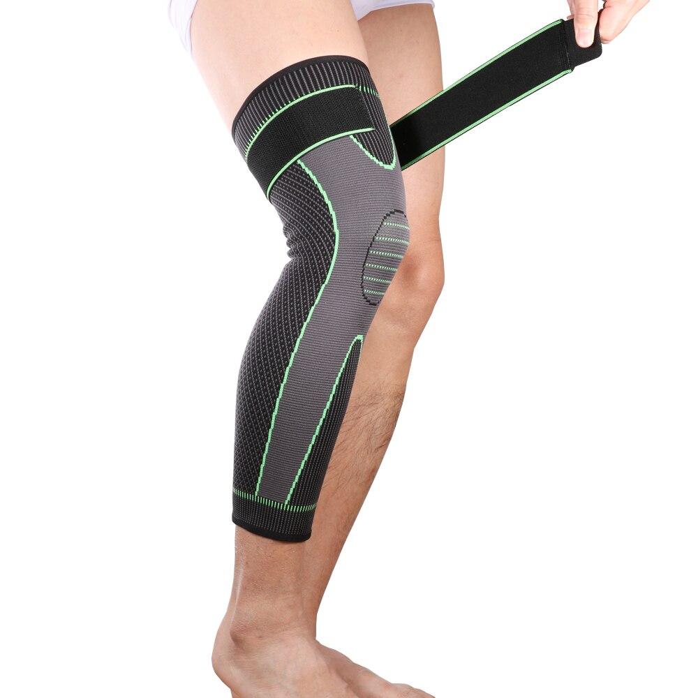 Protège-genoux élastique, genouillère longue et élastique, pour les jambes, soutien-genou, pour les jambes et les jambes chaudes, livraison depuis les états-unis