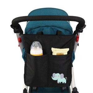 Image 1 - Bolsa de maternidad para cochecito de bebé y madre lactante, organizador de accesorios para silla de bebé, bolsas de pañales de diseño cambiantes, bolso de mano para la mamá