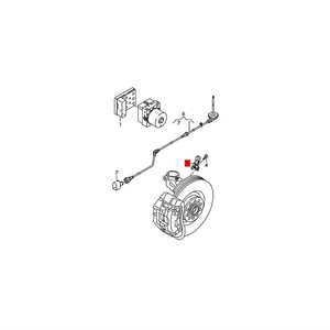 Image 2 - HONGGE Qty 4 NEW ABS Wheel Speed Sensor For A2 VW Polo 6R 6C 9N WHT003860 WHT 003 861 WHT 003 862 WHT003863