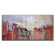 100% Handpainted New Arrival Picture Abstract Oil Painting On Canvas Art Wall Picture For Living Room Home Decor Frameless(China)