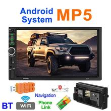 Newest 7918 7 inch Android 8.1 Quad Core Car Stereo GPS Navigation MP5 Player bluetooth WiFi USB Radio Receiver Touch Screen 7 inch hd car mp5 radio video player for android 7 1 multimidia 4k touch screen 1080p bluetooth auto gps navigation support wifi