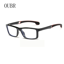 OUBR 2019 Mens trend brand computer optical glasses frame anti-blue light ladies simple eye