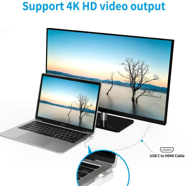 20Pin Magnetic USB C Adapter 4K@60Hz PD 100W Type C Adapter, 10Gbp/s Data Transfer and Video Output for MacBook Pro/Air and More