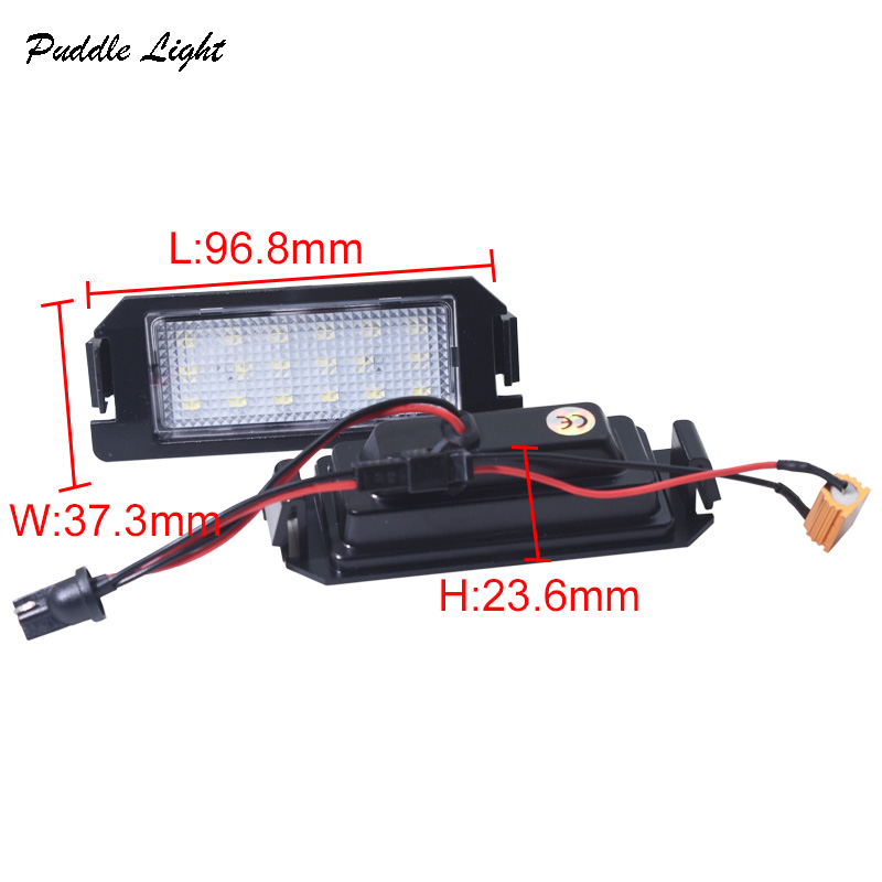 LED Number License Plate Light Lamps For Hyundai Kia Tiburon Coupe Soul Rio I20