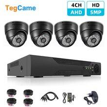 H.265 4CH 5MP HD AHD DVR Kit CCTV System Dome Kamera Indoor P2P Video Sicherheit Überwachung Set Cam Mit 4PCS 20m BNC Kabel