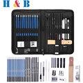 Для выведения токсинов  40 шт карандаши для рисования набор для рисования и комплект скетчей с карандаши ластики комплект сумка-скетч-Бук ка...