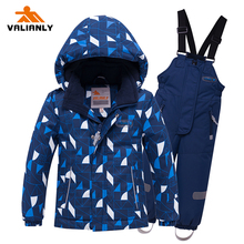 VALIANLY 2019 Winter Snowsuit Kids Ski Suits Boys Girls Jacket Pants 2pieces Children Outdoor Waterproof Windproof Snow Sets