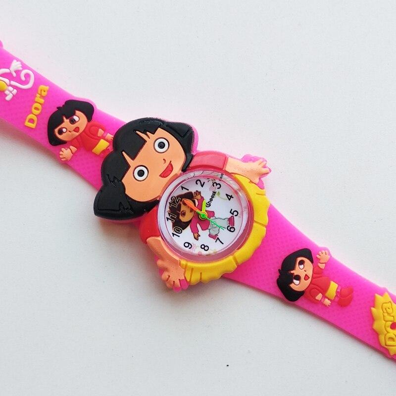 2019 Hot Fashion Children Watch Cute Dora Girl Student Child Quartz Watch Waterproof Sports Girls Kids Watches Baby Clock Gift