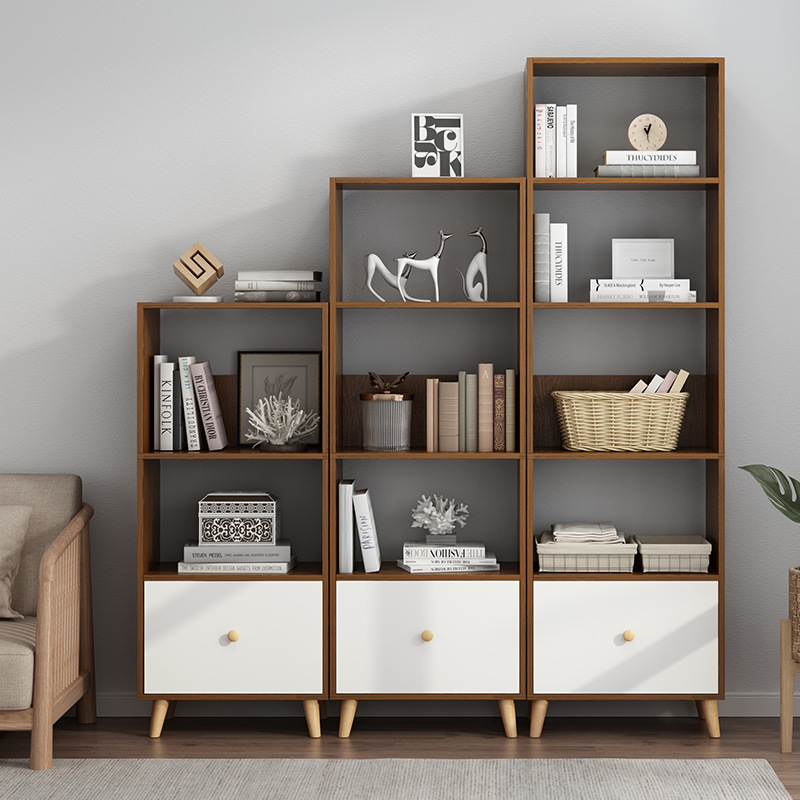 Bookcase Bookshelf Minimalist Modern Floor Bedroom Living Room Storage Rack Office Storage Shelf Creative Multi-functional Bookc