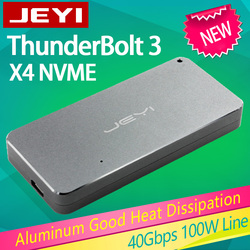 Jeyi Thunderbolt 3 M.2 NVME Kandang Ponsel Case Kotak NVME untuk TYPE-C Aluminium Type C3.1 M. 2 USB3.1 M.2 PCIe U.2 SSD LEIDIAN-3