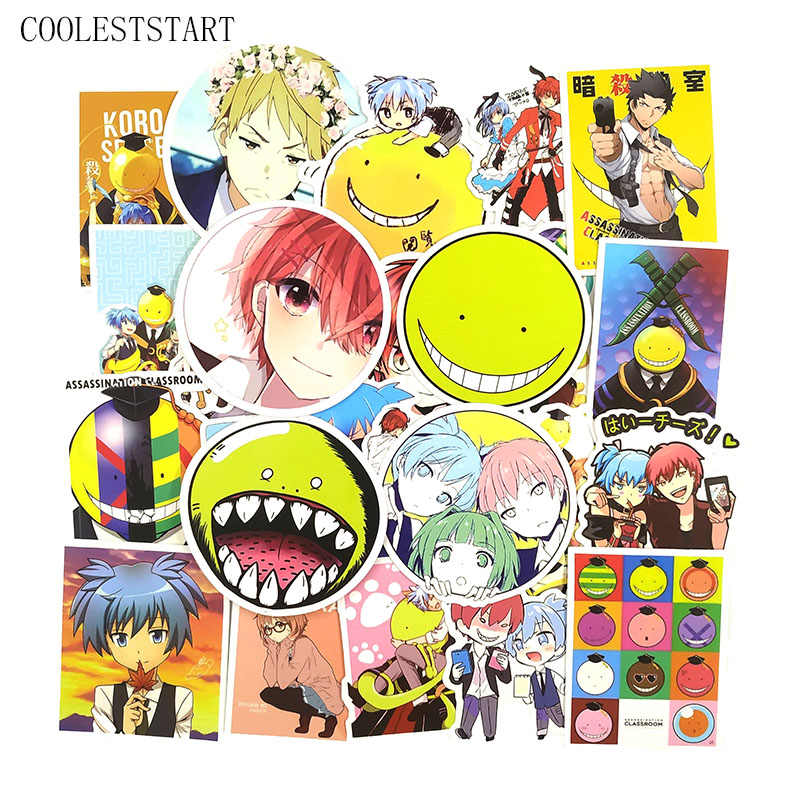 GerFogoo 50pcs Anime Assassination Classroom PVC Pegatinas para equipaje port/átil Nice
