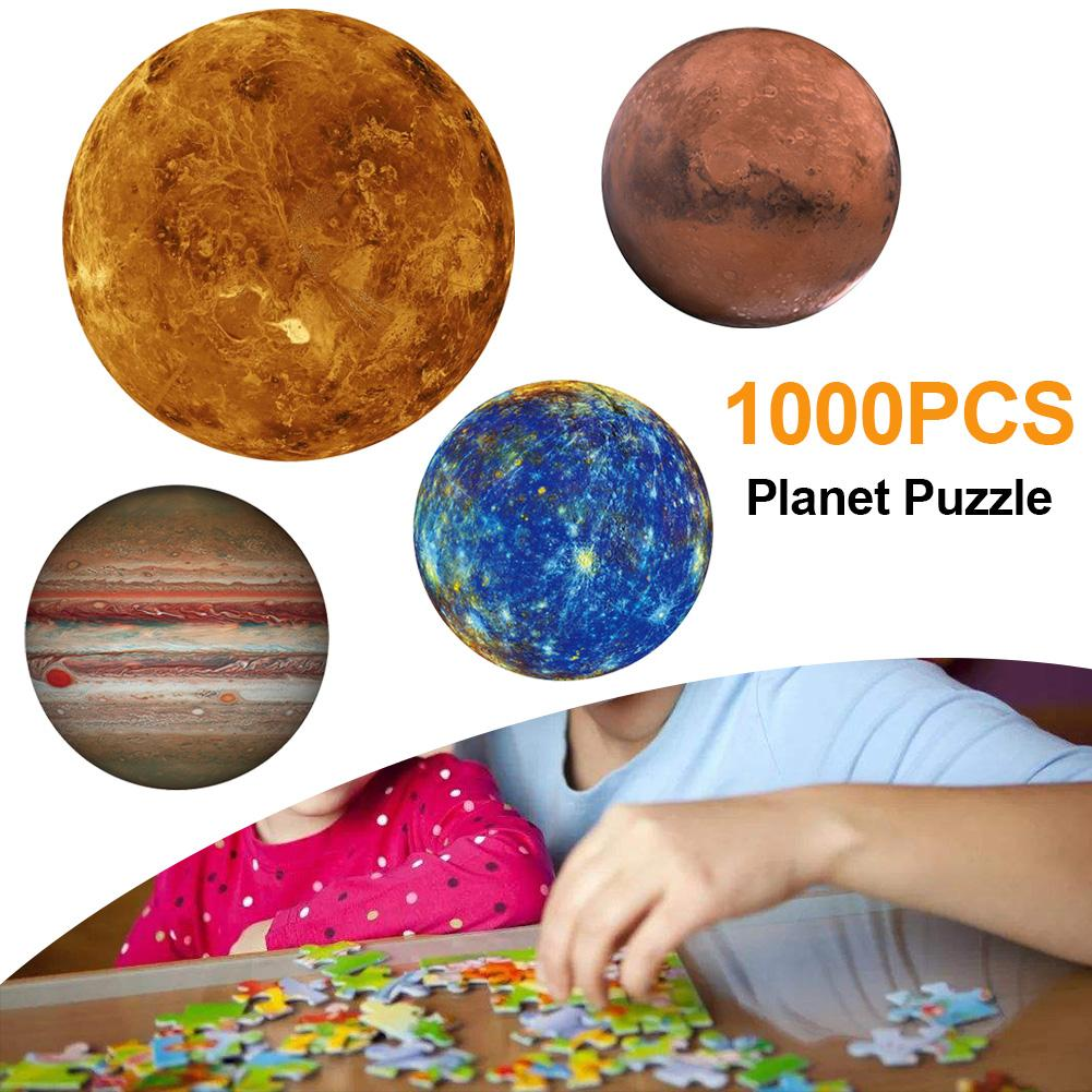 Round <font><b>Puzzle</b></font> Moon/Earth/Mars <font><b>Puzzle</b></font> 1000 Pc Difficult <font><b>For</b></font> <font><b>Adults</b></font> Children Planet <font><b>Puzzle</b></font> Educational Moon <font><b>Jigsaw</b></font> Europe Australia image