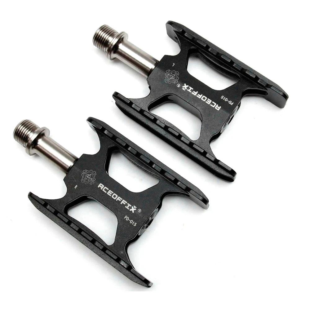 Aceoffix Titanium Axle Bike Pedals for Brompton Folding Bikes Quick Release