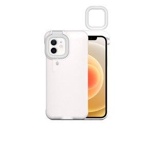 Image 3 - Capa de celular com flash e luz de led, para iphone 7, 8, x, xs max, xr, 12, 12 pro max, 12