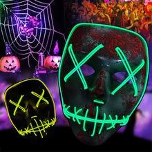Светодиодная маска Хэллоуин вечерние маскарад маски неоновая