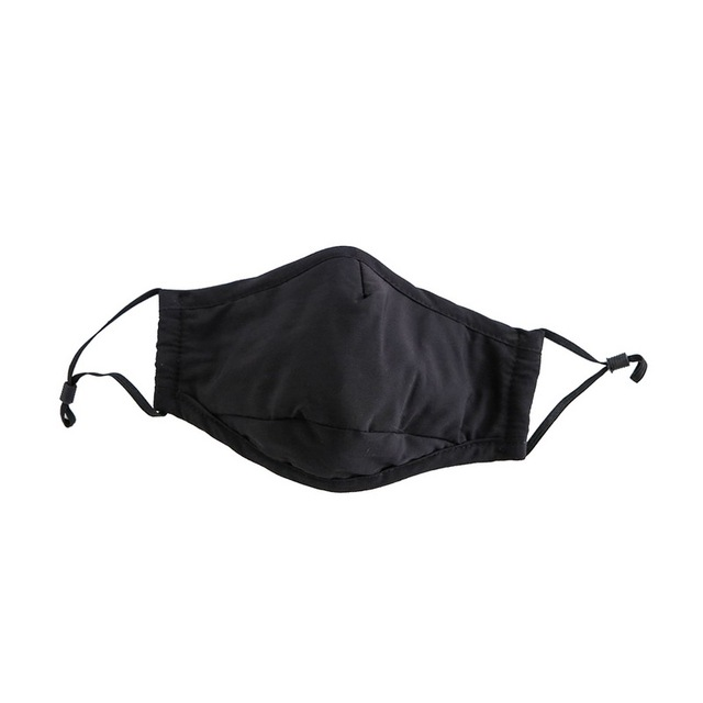 Cotton  PM2.5 Black mouth Mask Anti Dust Masks Activated Carbon Filter Windproof Mouth-muffle bacteria proof Flu Face Masks Care