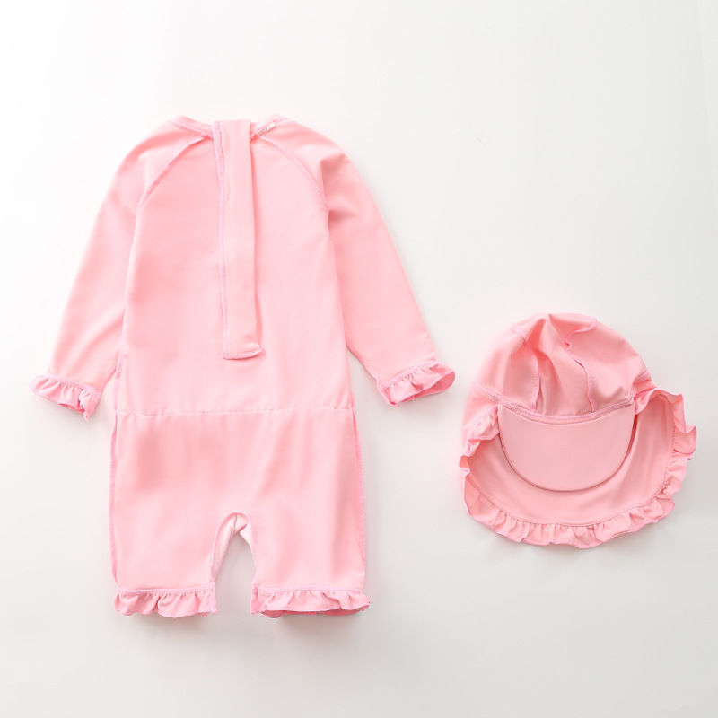 KID'S Swimwear Girls One-piece Cute Princess Children Baby Girls Swimwear GIRL'S BABY'S Bathing Suit INS