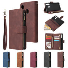 P30Lite P40 Pro Plus Flip Leather Case for Huawei P40 Pro Lite E Multi Function Zipper Wallet Case Huawei P 30 40 Light Cover