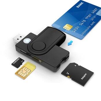 UTHAI for Windows 7 8 10 Linux OS, USB SIM smart card reader, for bank card IC / ID EMV SD TF MMC card reader USB-CCID ISO 7816
