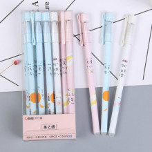 3/6Pcs/Set Cute Pink Erasable Pen Refill Rod 0.5mm Blue Ink Magic Gel For School Office Writing Supply Kawaii Stationery