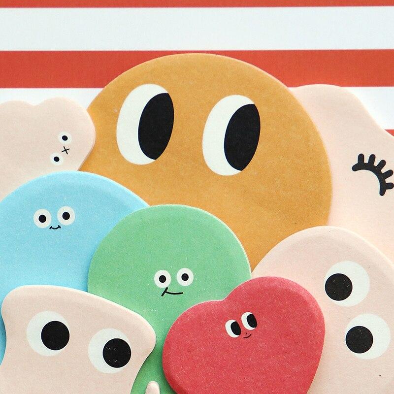 40pcs Lot 4 Designs Kawaii Cartoon Eyes Cute Memo Pad Sticky Notes