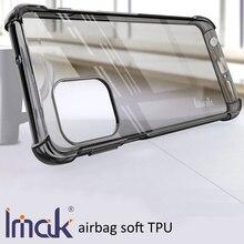 IMAK hava yastığı Motorola kenar S G100 damla direnci yumuşak TPU silikon şeffaf şeffaf kapak