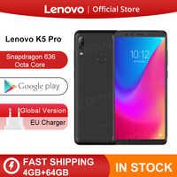 Globale ROM Lenovo K5 Pro 6GB 128GB Snapdragon 636 Octa Core Per Smartphone Quattro Telecamere 5.99 pollici 4G LTE Telefoni
