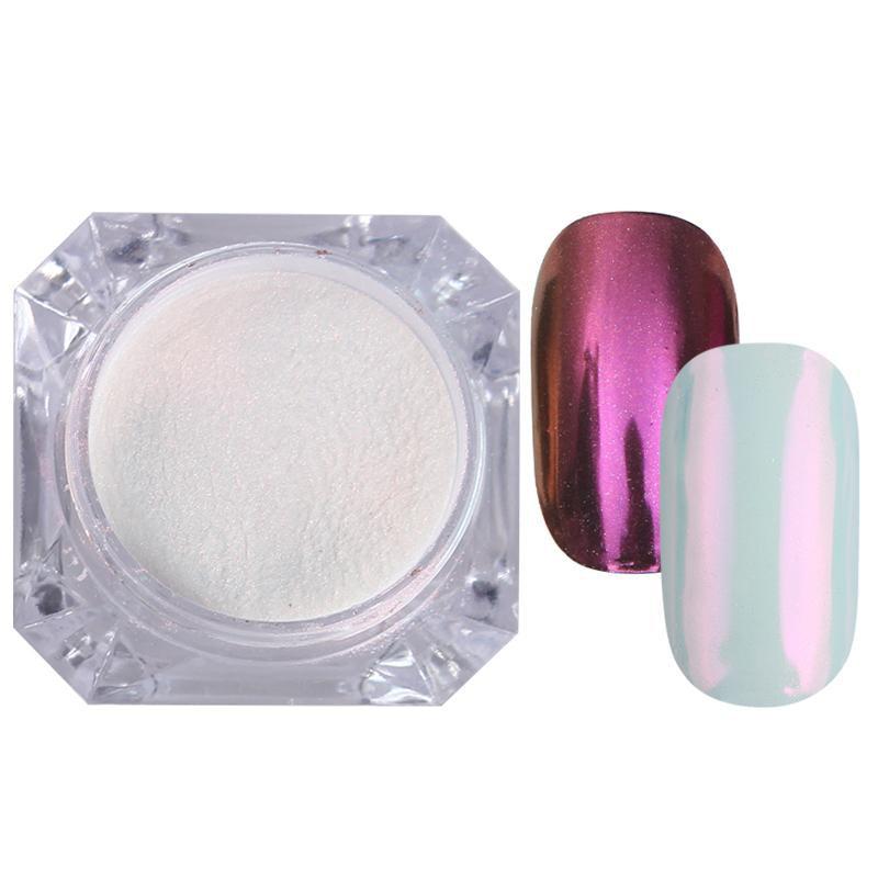 Rose Gold Bubble Mirror Powder Metallic Nail Glitter Holographics Chrome Dust Sparkling Flakes Pigment Manicur Nail Art Decor 52