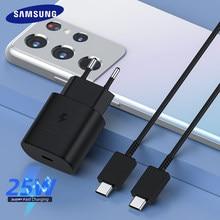 Orijinal Samsung S21 S20 5G 25w şarj cihazı süper hızlı şarj Usb tipi C Pd PPS hızlı şarj ab galaxy not için 20 Ultra 10
