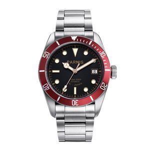 Image 1 - Parnis relógio masculino de pulso, 41mm, miyota, movimento mecânico automático, aço inoxidável, luminoso, marca de luxo, sapphire, cristal, relógio de pulso, homens