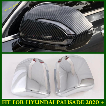 Accessories Exterior Refit Kit Side Door Rearview Mirror Decoration Housing Frame Cover Trim Fit For Hyundai Palisade 2020 2021 1