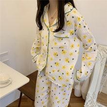 Комплект свободных пижам для дам из двух предметов в стиле ретро
