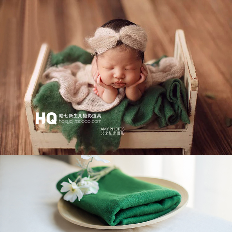 Baby Newborn Photography Props Fur Blanket Newborn Basket Filled Fill Stuffer Photo Shoot Photo Accessories Sheepskin
