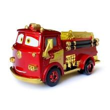 Disney Pixar-juguetes de Cars para niños, coche de rescate de fuego dorado, Rayo McQueen, Jackson Storm, de aleación de Metal fundido a presión, regalo de cumpleaños