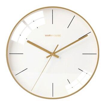 Creative Glass Wall Clock Metal Silent Nordic Gold Luxury Clocks Wall Home Decor Wtach Home Living Room Relogio De Parede Gift