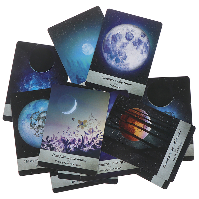Read The Mythic Fate Divination For Fortune Games 44 Cards English Guidance Moonology Oracle Cards Tarot Deck Cards